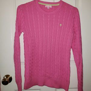 Lilly Pulitzer Pink Cableknit Sweater - Size M